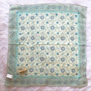 Natural Life Blue Handkerchief Scarf Bandana Boho
